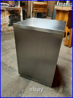 Lovely Vintage Industrial 4 Draw Filing Cabinet Stripped and Polished Nice Piece