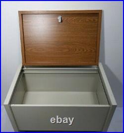 Marvel Metal Products USA Vintage Top Load Rolling Filing File Cabinet Cart