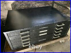 Mayline Black Five Drawer 28 X 41 Flatfile File Art Map Blueprint Storage A19