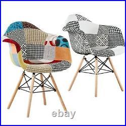 Moda TUB Patchwork Eiffel Dining Armchair Chair Retro Vintage Scandinavian Style