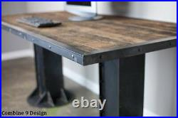 Modern Industrial I-Beam Desk, Vintage Modern Style, Mid Century Modern, Rustic