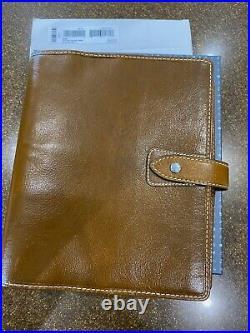 NEW 2021 Model Filofax Malden A5 Organiser Buffalo Leather Vintage Ochre Brown