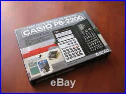 NEW Extremely RARE Vintage Casio PB-220 LCD Basic pocket computer calculator