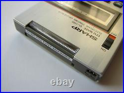 NEW NOS RARE Vintage 1980 SHARP ELSI MATE slimline LCD printing calculator