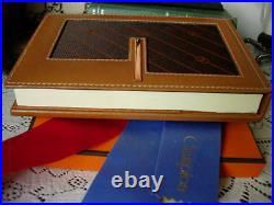 NEW RARE Vintage GUCCI Monogram Desk Organizer Tablet Notebook Agenda Accessory