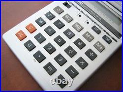 NEW Vintage 1981 NOS CASIO LCD Calendar printing Alarm Clock Calculator