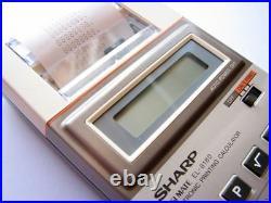 NEW in BOX RARE Vintage 1982 Sharp ELSI MATE pocket printing LCD calculator