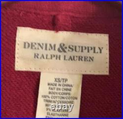 New Denim & Supply Ralph Lauren X-Small Red Band Jacket RRL Military Officer VTG