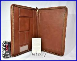 New Vintage Ghurka GE122 Legal Zip-Around Portfolio Chestnut Vintage Leather 38