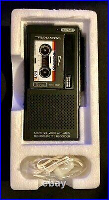 New Vintage REALISTIC Microcassette Recorder Player Micro-26