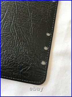 Organiser/filofax-rare Vintage Jotter Holder Black Calf Leather Insert-personal
