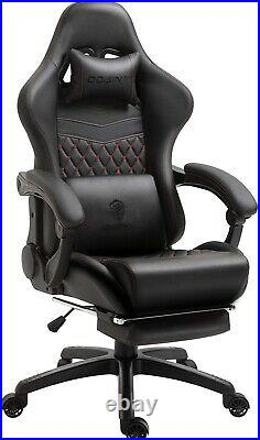 Pre-Built Dowinx gaming/office chair(black&red) with massage vintage style
