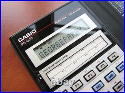 RARE Mint condition Vintage Casio PB-220 LCD Basic pocket computer calculator
