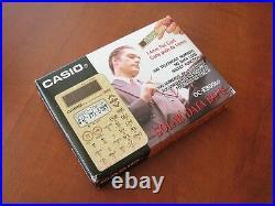 RARE NEW in BOX Vintage NOS CASIO DC-E800 (P)Gold DATA-BANK 300 calculator