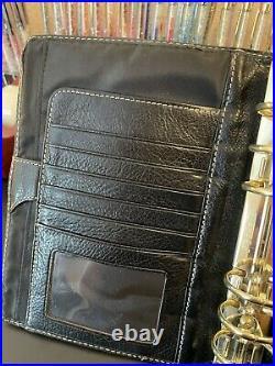 RARE Vintage Franklin Covey Black Aurora Compact Planner Binder