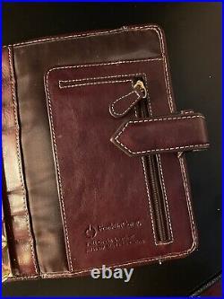 RARE Vintage Franklin Covey Burgundy Aurora Compact Planner Binder