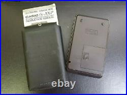 Rare Vintage Casio Fx-201p Electronic Calculator Plus Instruction Manual Works