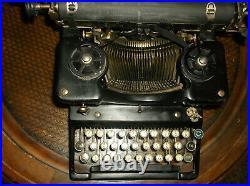 Rare Vintage Harris Visible Typewriters by Year 1914 Glass Keys Worhs Great
