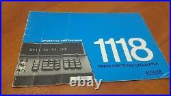 Rare Vintage Retro 1970s calculator Singer Friden 1118 14 x Nixie tube display