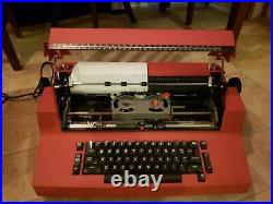 Red IBM CORRECTING SELECTRIC 2 ELECTRIC TYPEWRITER II VINTAGE read description