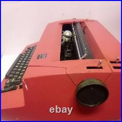 Red IBM CORRECTING SELECTRIC ELECTRIC 2 TYPEWRITER VINTAGE