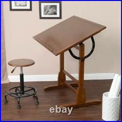 SD Studio Designs Vintage Wood Drawing Table Rustic Oak 36W