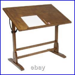 SD Studio Designs Vintage Wood Drawing Table Rustic Oak 42W