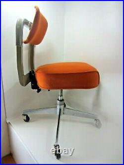 STEELCASE Vintage Rolling Office Chair Classic Orange