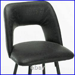 Set of 4 Pub Chair Bar Stools Counter Height PU Leather Kitchen Dining