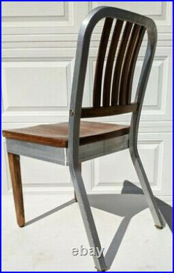 Shaw Walker Aluminum And Maple Side Chair