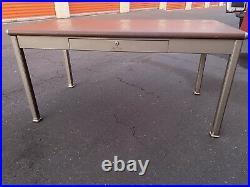 Shaw Walker Vintage Metal Tanker Desk