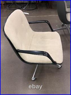 Single Vintage 1976 Steelcase Office Chair Bucket Seat Mid Century Modern