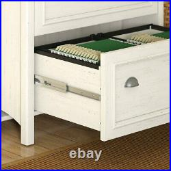 Stanford 2 Drawer Lateral File Cabinet in Antique White and Tea Maple