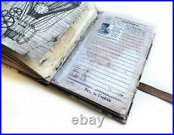 Steampunk Travel Junk Journal a5, Vintage Travel Book