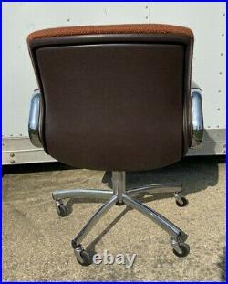 Steelcase Vintage 1980's Orange Tweed Office Desk Chair
