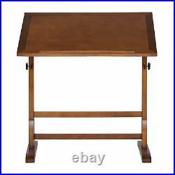 Studio Design 42 Inch Vintage Drawing Drafting Wood Table Craft Desk, Rustic Oak