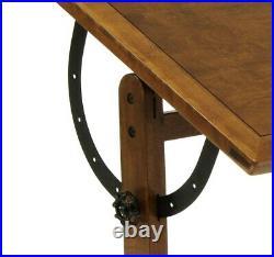 Studio Designs Solid Hard Wood Vintage Drafting Table 36 13304