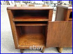 VINTAGE MID CENTURY BOOKCASE & TELEPHONE STAND SET WALNUT WeDeliverLocallyNor CA