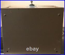 VINTAGE PREOWNED LARGE STAMFORD CONN LOCKING METAL FILE LOCK BOX System (rare)
