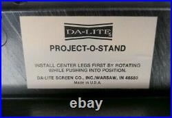 VTG Da-Lite Project-O-Stand 25.5x17.5deck 32-56Telescoping Legs See Pics