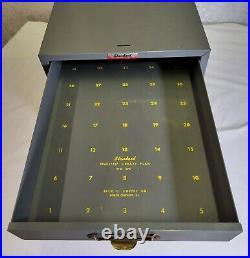 VTG Metal 6 Drawer Standard Filmstrip Library Card Catalog Filing Cabinet File