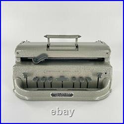 VTG Perkins Brailler Typewriter David Abraham Howe Press School For Blind WORKS