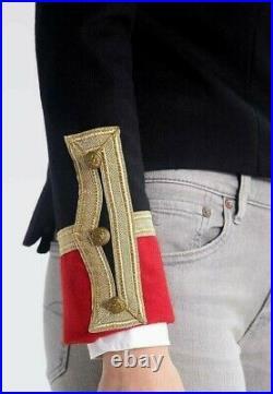 VTG Ralph Lauren Denim Supply Military Army Wool Officer Band Commander Jacket