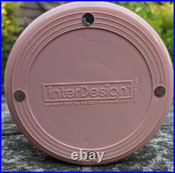 VTG Rare Interdesign Swivel Organizer Pink Blush Plastic Tier Mod Space Age