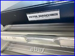 Victor Kardex 6 Drawer Metal Cabinet Industrial Card File 18Dx8Wx9H