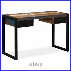 VidaXL Desk with 2 Drawers Solid Reclaimed Wood 47.2 Study Table Workstation