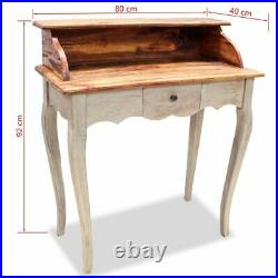 VidaXL Solid Reclaimed Wood Writing Desk Computer Table Home Study Office Work