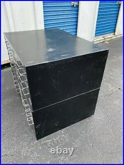 Vintage 10 Drawer Flat file Blueprint Cabinet with base 40 1/2 w