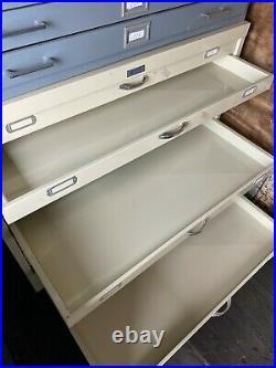 Vintage 12 Drawer Flat file Blueprint Cabinet 41 w