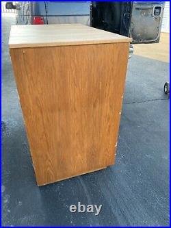 Vintage 12 Drawer Wood Flat file Blueprint Cabinet 41 w